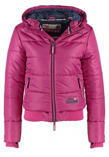 Superdry Vinterjakker - demi berry/navy